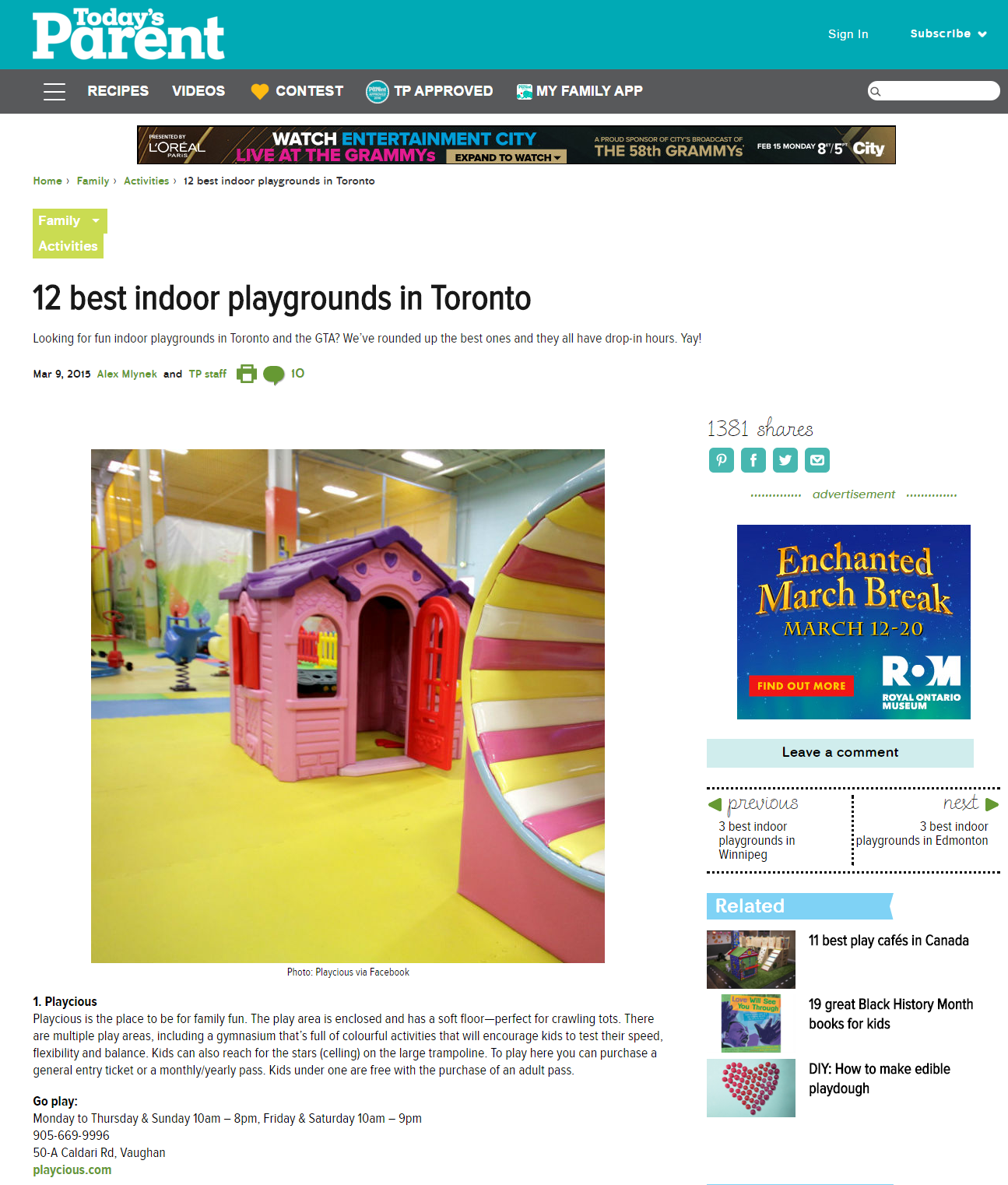 playcious-12 best indoor playgrounds in Toronto Today s Parent